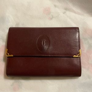 Authentic Cartier small3 fold wallet